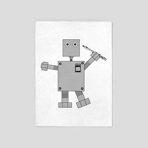 Piccolo Robot 5'x7'Area Rug
