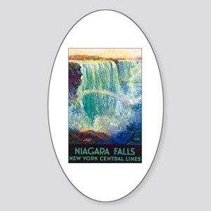 Niagara Falls Oval Sticker
