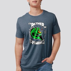 I'd Rather Be Fishing Mens Tri-blend T-Shirt