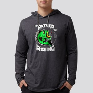 I'd Rather Be Fishing Mens Hooded Shirt
