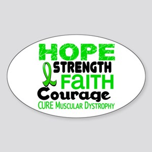 HOPE Muscular Dystrophy 3 Oval Sticker