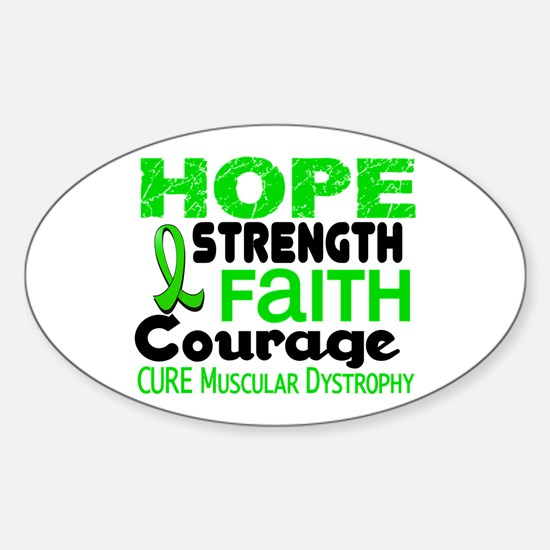 HOPE Muscular Dystrophy 3 Oval Decal