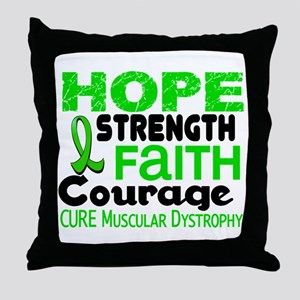 HOPE Muscular Dystrophy 3 Throw Pillow