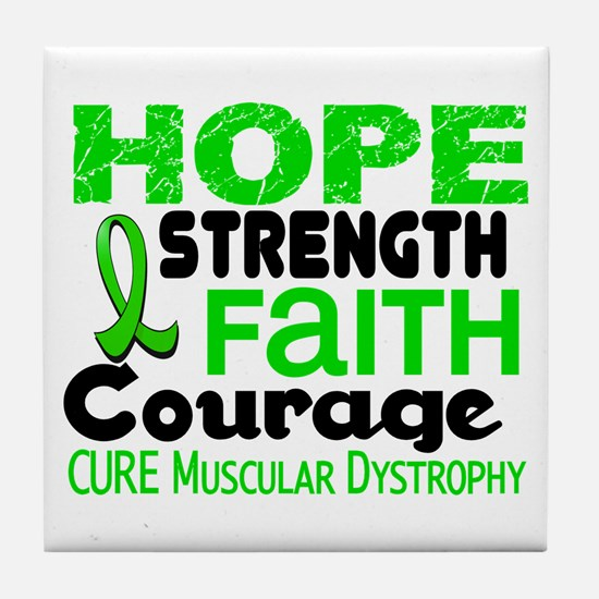 HOPE Muscular Dystrophy 3 Tile Coaster