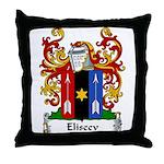 Eliseev Family Crest Throw Pillow