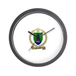 DRAPEAU Family Crest Wall Clock