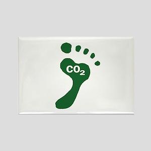 Carbon Footprint Foot Rectangle Magnet