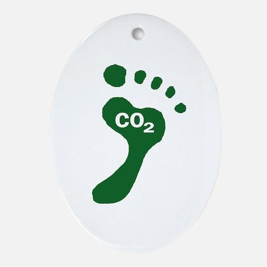 Carbon Footprint Foot Oval Ornament