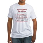 Snowmobiler top Ten Lies Fitted T-Shirt