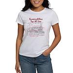 Snowmobiler top Ten Lies Women's T-Shirt
