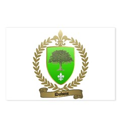 DUBOIS Family Crest Postcards (Package of 8)