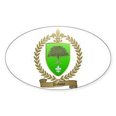 DUBOIS Family Crest Oval Decal