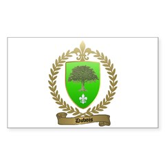 DUBOIS Family Crest Rectangle Decal