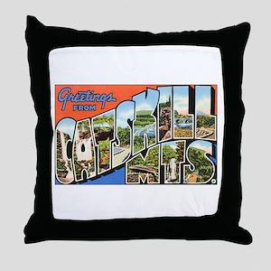 Catskill Mountains Throw Pillow