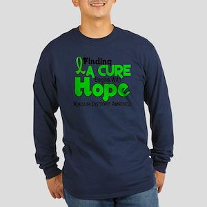 HOPE Muscular Dystrophy 5 Long Sleeve Dark T-Shirt