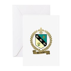 DUCHARME Family Crest Greeting Cards (Pk of 10