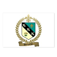 DUCHARME Family Crest Postcards (Package of 8)