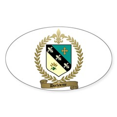 DUCHARME Family Crest Oval Decal