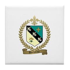 DUCHARME Family Crest Tile Coaster
