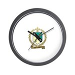DUCHARME Family Crest Wall Clock