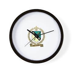 DUCHARME Family Crest Wall Clock