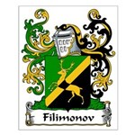 Filimonov Family Crest Small Poster