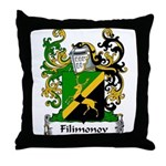 Filimonov Family Crest Throw Pillow