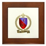 DUCHESNEAU Family Crest Framed Tile