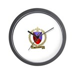 DUCHESNEAU Family Crest Wall Clock