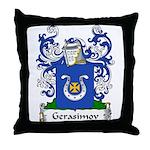 Gerasimov Family Crest Throw Pillow