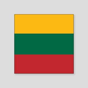 """Flag: Lithuania Square Sticker 3"""" x 3"""""""
