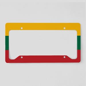 Flag: Lithuania License Plate Holder
