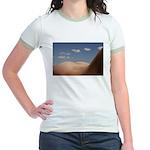 153. cloudz bottom? Jr. Ringer T-Shirt