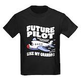 Grandpa 27s co pilot Kids T-shirts (Dark)