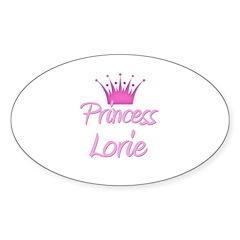 Princess Lorie Oval Decal