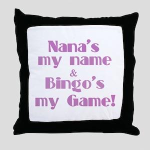 Nana and Bingo Throw Pillow