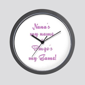 Nana and Bingo Wall Clock