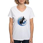 Women's V-Neck T-Shirt w/ Front & Back Images