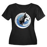 Women's Plus Size Scoop Neck Dark T-Shirt w/ Logo