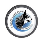 Wall Clock with 8 State Kate Fund Logo