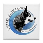 Tile Coaster with 8 State Kate Fund Logo