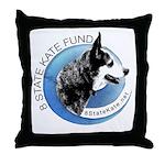 Throw Pillow with 8 State Kate Logo