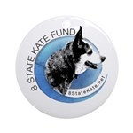 Round Ornamentwith 8 State Kate Fund Logo