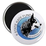 Magnet with 8 State Kate Fund Logo
