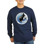 Long Sleeve Dark T-Shirt with Front Logo-2 Colors