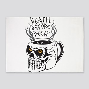Death Before Decaf 5'x7'Area Rug