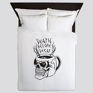 Death Before Decaf Queen Duvet