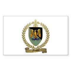 FOUQUET Family Crest Rectangle Decal