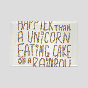 Happier That A Unicorn... Magnets