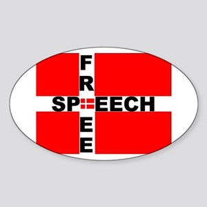 Free Speech Oval Sticker